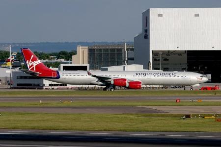 G-VSHY Airbus 340-600 taxiing